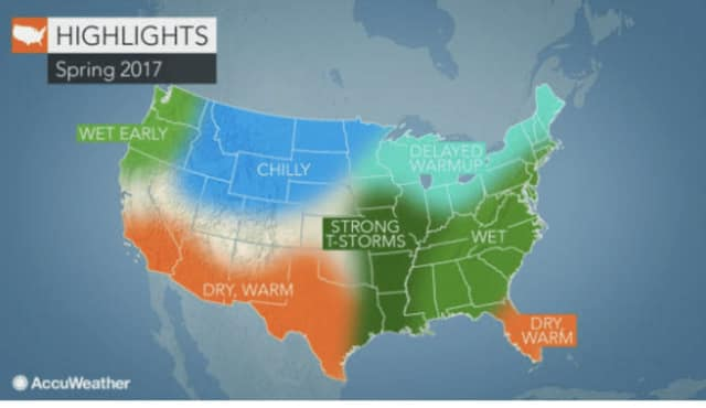 A look ahead at the expected weather pattern for the spring, which starts March 20.