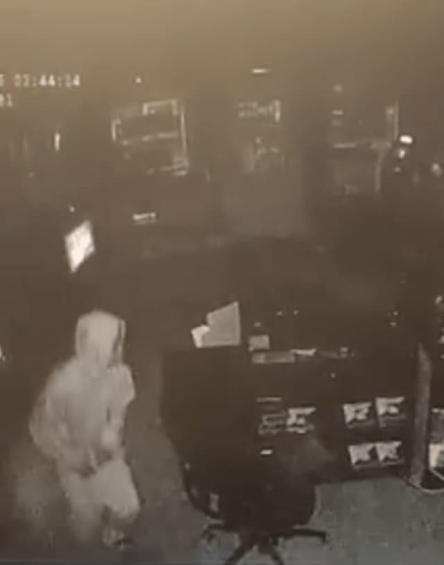 Police are seeking to identify the suspect in a Feb. 16 burglary at the Boost Mobile on West Main Street in Stamford.