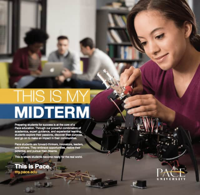 "Pace University is featuring real students as part of its ""This is Pace"" brand campaign."