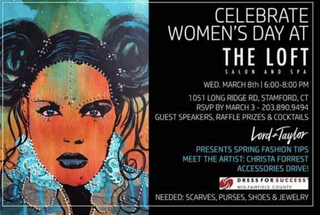 The Loft Salon & Spa in Stamford will celebrate International Women's Day on Wednesday, March 8.