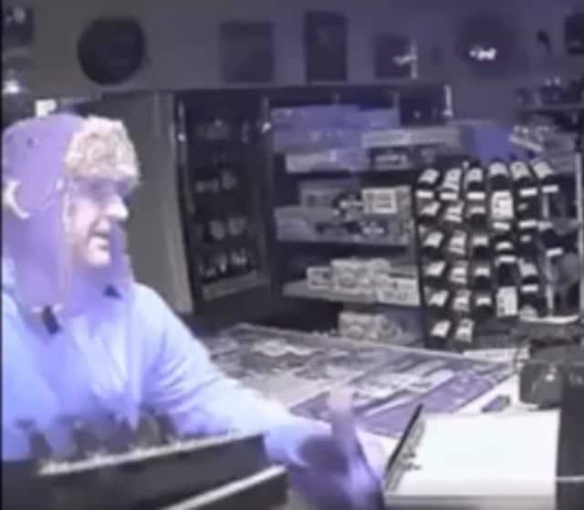 Suspect in liquor store theft in Darien.