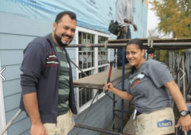 """Habitat for Humanity of Coastal Fairfield County volunteers work on a project. Donations to the organization and others may be made on """"Giving Day"""" Thursday at the Fairfield County Community's Foundation website."""