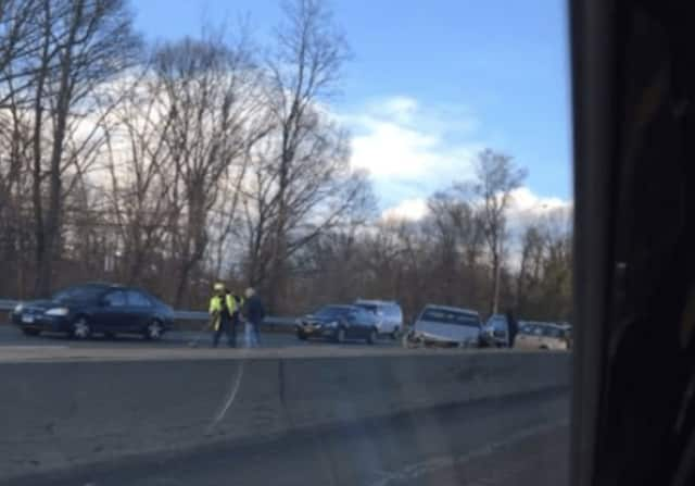 The crash, reported just before 5 p.m., is at Exit 2 (Delavan Avenue) with stop-and-go delays to Route 1 (Exit 9).