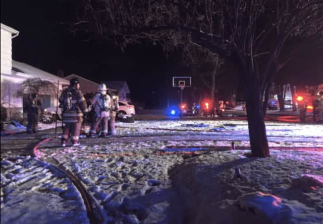 A Hillsdale home was evacuated Friday night for a fire that started in a bedroom.