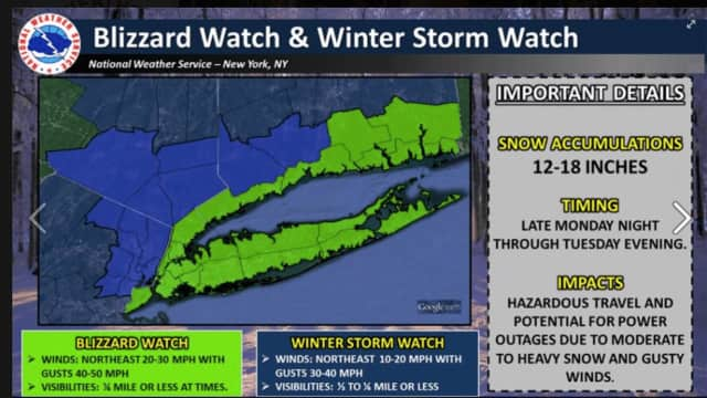 Winter's worst snowstorm is on the horizon for Bergen and Passaic counties.
