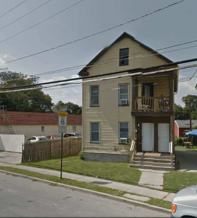 A fire at 122 Smith St., in the City of Poughkeepsie on Sunday, displaced nine residents.