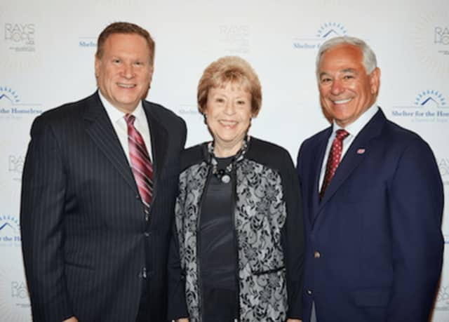 From left to right are Andrew M. Reid, Pacific House Gala Chair; Patricia Phillips, 2016 Gala Honoree; and Bobby Valentine.The event will be held on Saturday, May 6, at The Italian Center in Stamford.