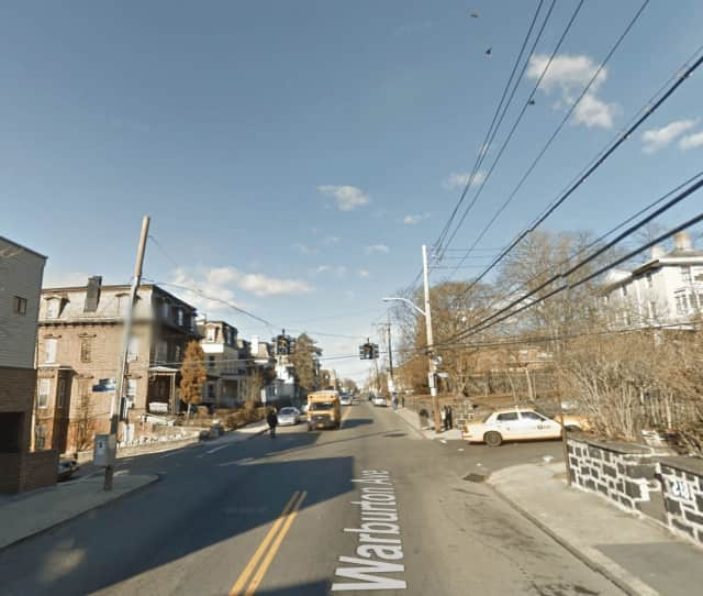 Police were dispatched to the intersection of Warburton and Lamartine Avenue in Yonkers for a reported shooting on Wednesday.