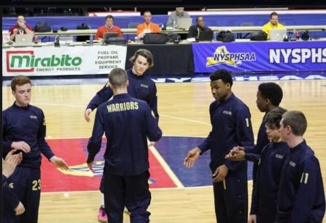Our Lady of Lourdes' boys basketball team.
