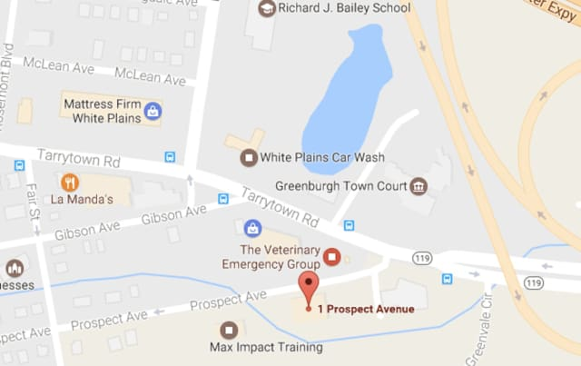 Prospect Avenue was closed on Tuesday afternoon after a tractor-trailer  ran into low-hanging wires, according to Greenburgh police.