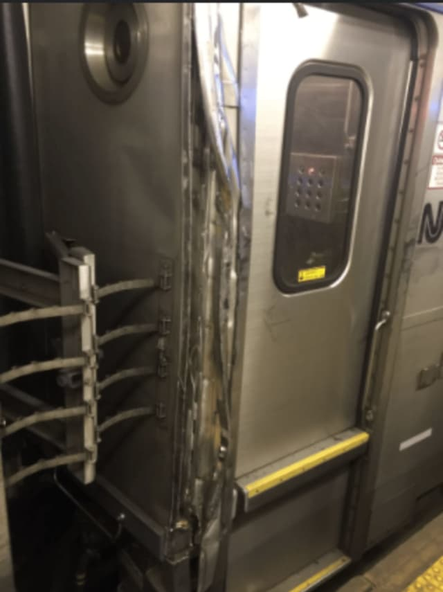 Passenger Jordan Geary said his train collided into another one Friday morning.