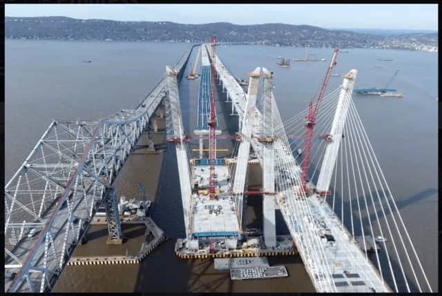 Work continues on the new Tappan Zee Bridge.