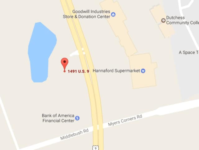 No injuries were reported on Monday when a tractor-trailer hit a car on U.S. 9 in Wappingers Falls.