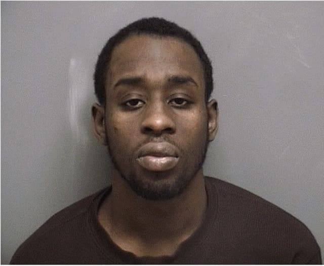 Antonio Lucaine, 26, of Yonkers, N.Y., was arrested on March 20 on a charge of criminal violation of a protective order and threatening. He was held on $250,000 bond.