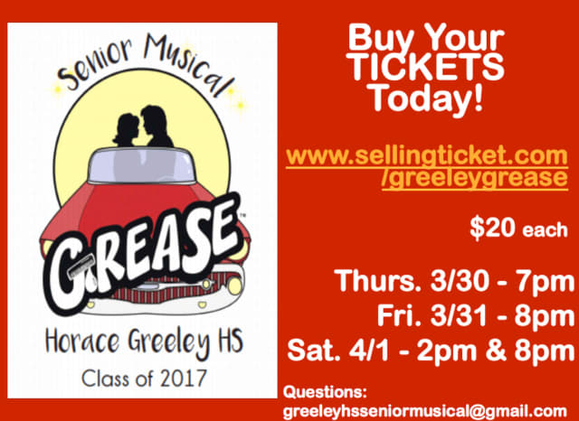 """Grease"" has been selected as this year's senior musical at Horace Greeley High School."