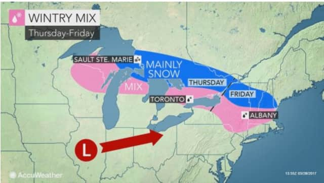 Wintry weather will return to Dutchess late Thursday night into Friday morning.