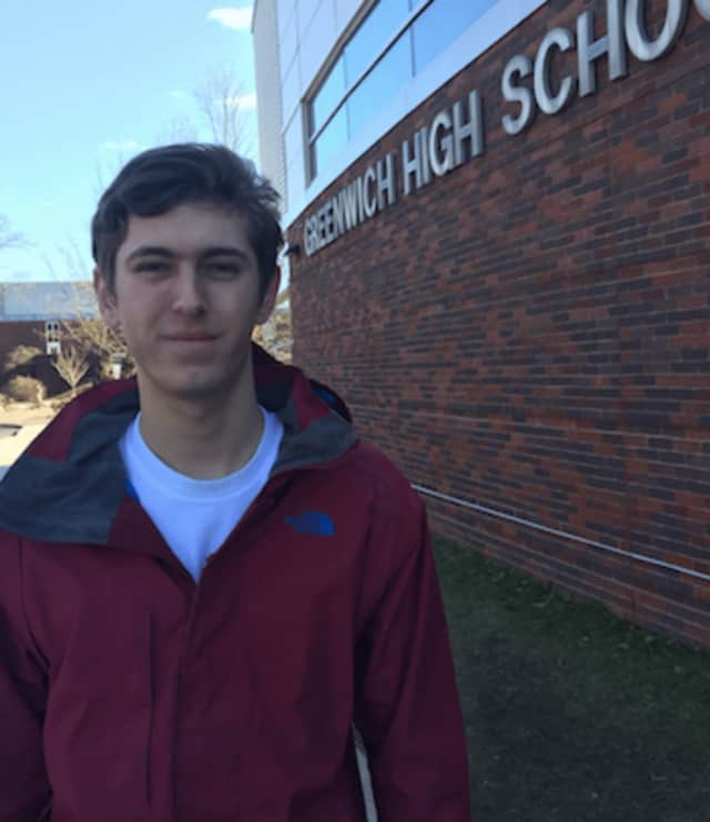 Greenwich High School student Scott Rusk.
