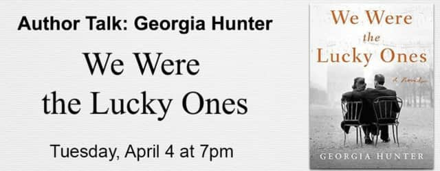 Author Georgia Hunter is speaking at the Chappaqua Library.