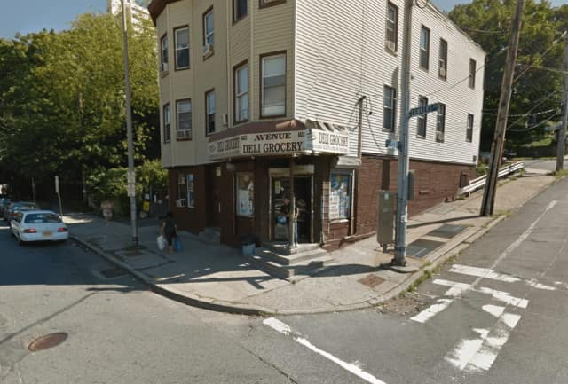 Two men were arrested in Yonkers after police interrupted a stabbing in progress at a local deli.
