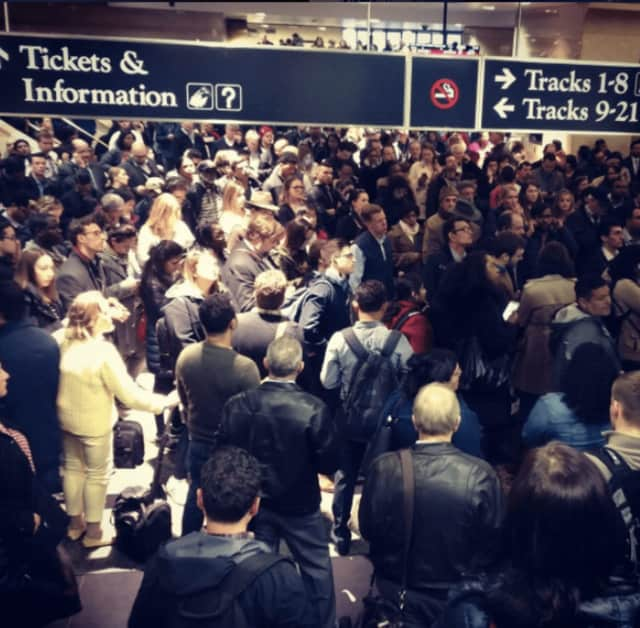 NJ Transit commuters are experiencing heavy delays after Monday's derailment.