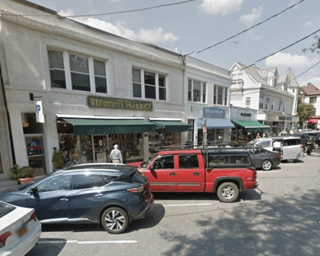 The area of Katonah Avenue in Katonah in front of Weinstein's Pharmacy where Bedford Police responded to a report of a verbal altercation.