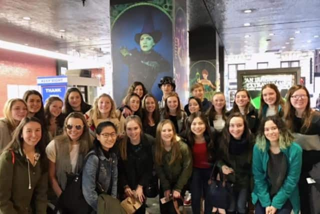 "Members of the Bronxville High School chorus recently went to Broadway to see the musical ""Wicked: The Untold Story of the Witches of Oz."""