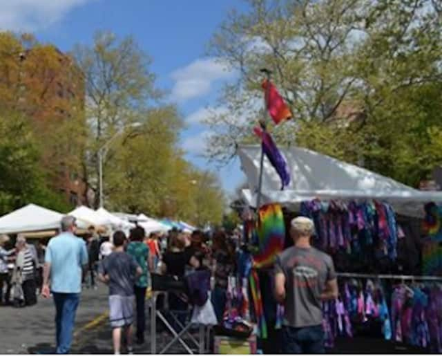 Two people were arrested at the Nyack Street Fair for selling counterfeit goods.