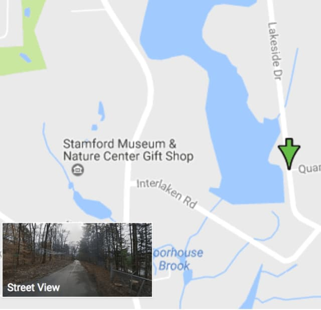 Lakeside Drive was closed for a few hours Tuesday morning near Quarry Road in North Stamford for the police investigation.