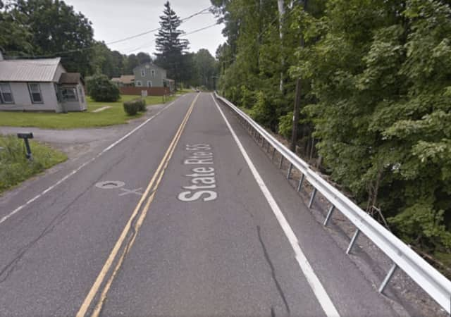 A look at part of the stretch of Route 55 set to be closed for construction.