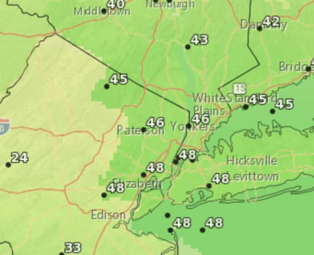 Light rain will linger in the forecast for Bergen County for most of the weekend.