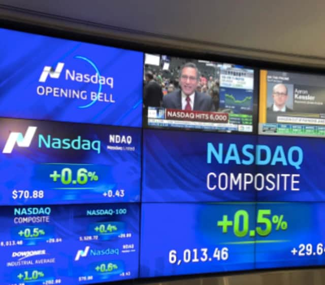 The Nasdaq Composite hit a record high on Tuesday morning.