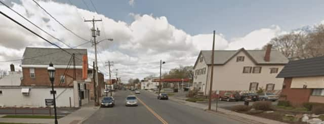 The area of Main Street in the Town of Poughkeepsie where the armed robbery occurred.