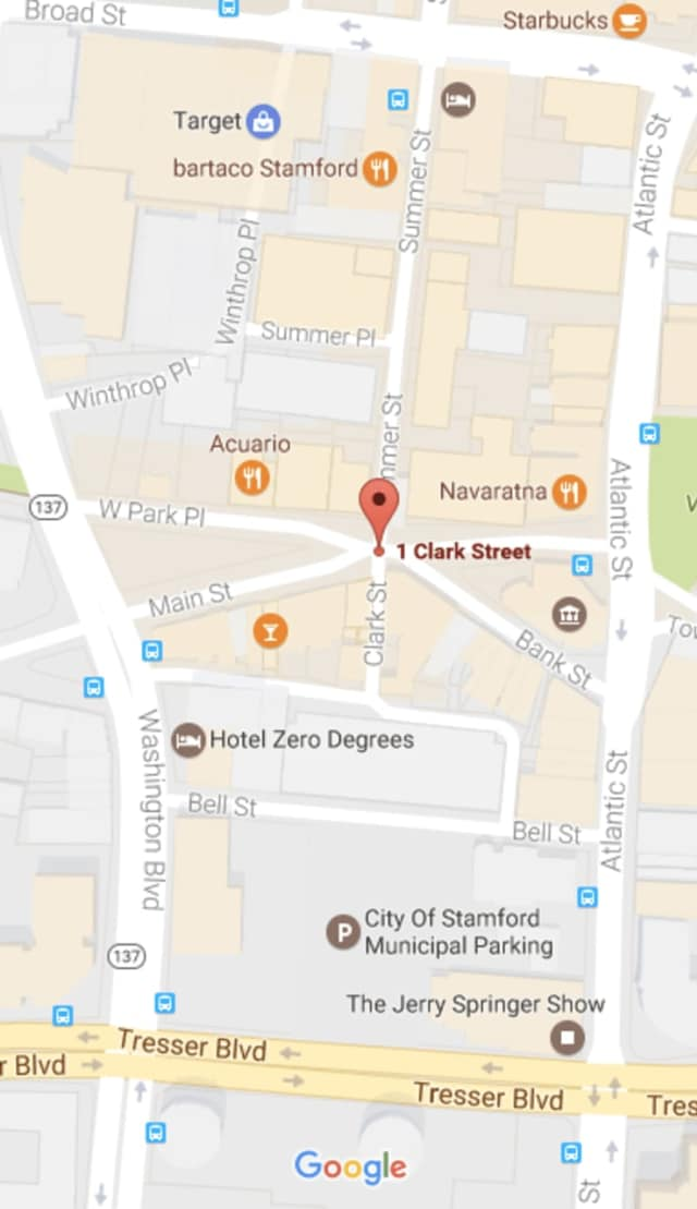 A gunman fired into a crowd on Clark Street in downtown Stamford early Sunday.