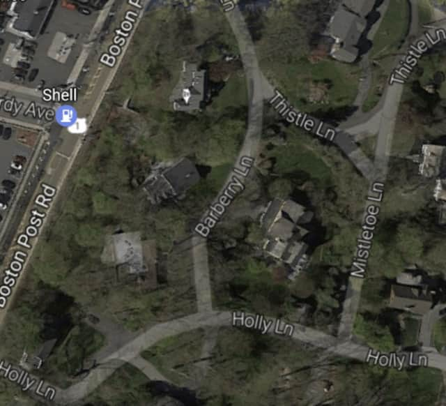 Barberry Lane in Rye is off Route 1 (Boston Post Road).