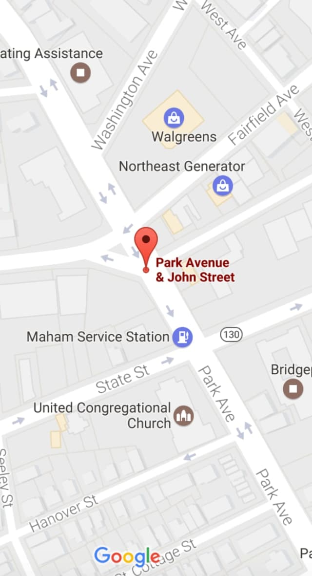 Park Avenue is closed between State Street and Fairfield Avenue in downtown Bridgeport after a shooting late Tuesday afternoon.