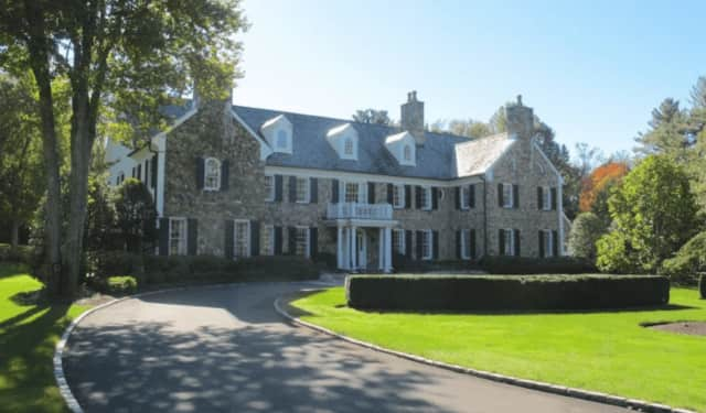 The mansion at 705 West Road in New Canaan was listed for sale for $4.725 million.