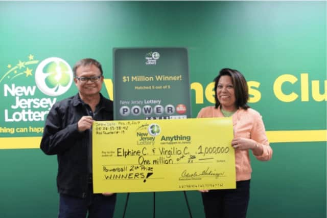 Elphine and Virgilio  of Rockland County will be splitting a $1 million winning ticket.