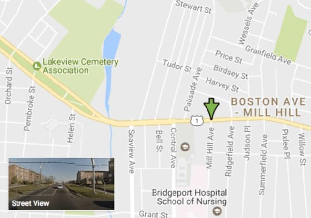 The hit-and-run crash occurred at Boston Avenue at Mill Hill Avenue in Bridgeport.