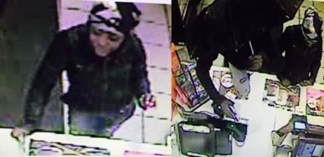 A man and woman held up the Southport Dunkin Donuts Saturday night.