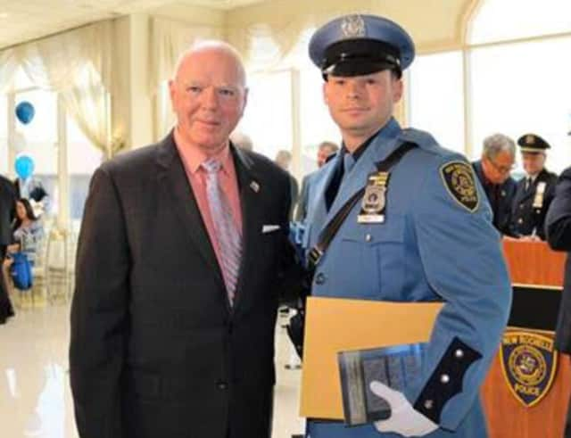 New Rochelle Police Commissioner Patrick Carroll (left) will retire effective in December.