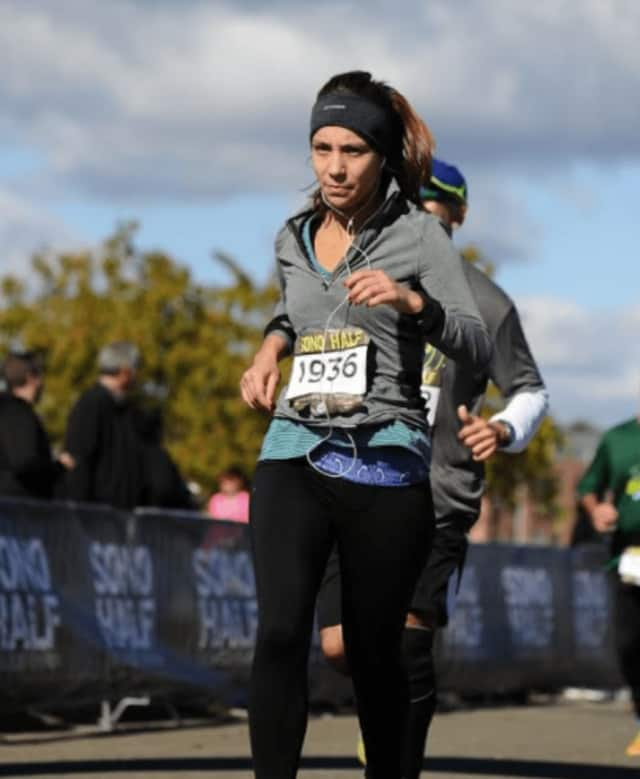 William Pitt Sotheby's agent, Jennifer Rohr, hits the road at the SoNo Half in South Norwalk.