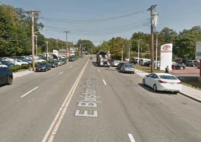 A child was hit by an SUV on Boston Post Road in Mamaroneck  Friday morning.