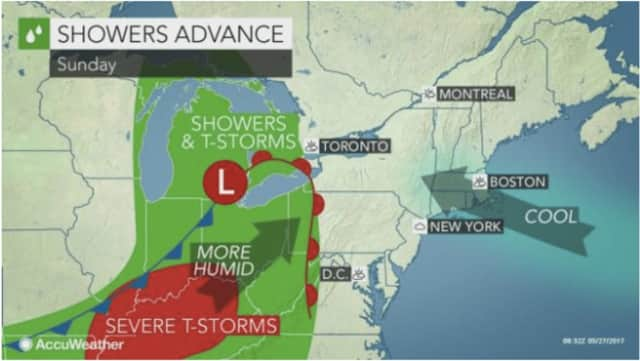 A look at the stormy weather headed to the area for Memorial Day.