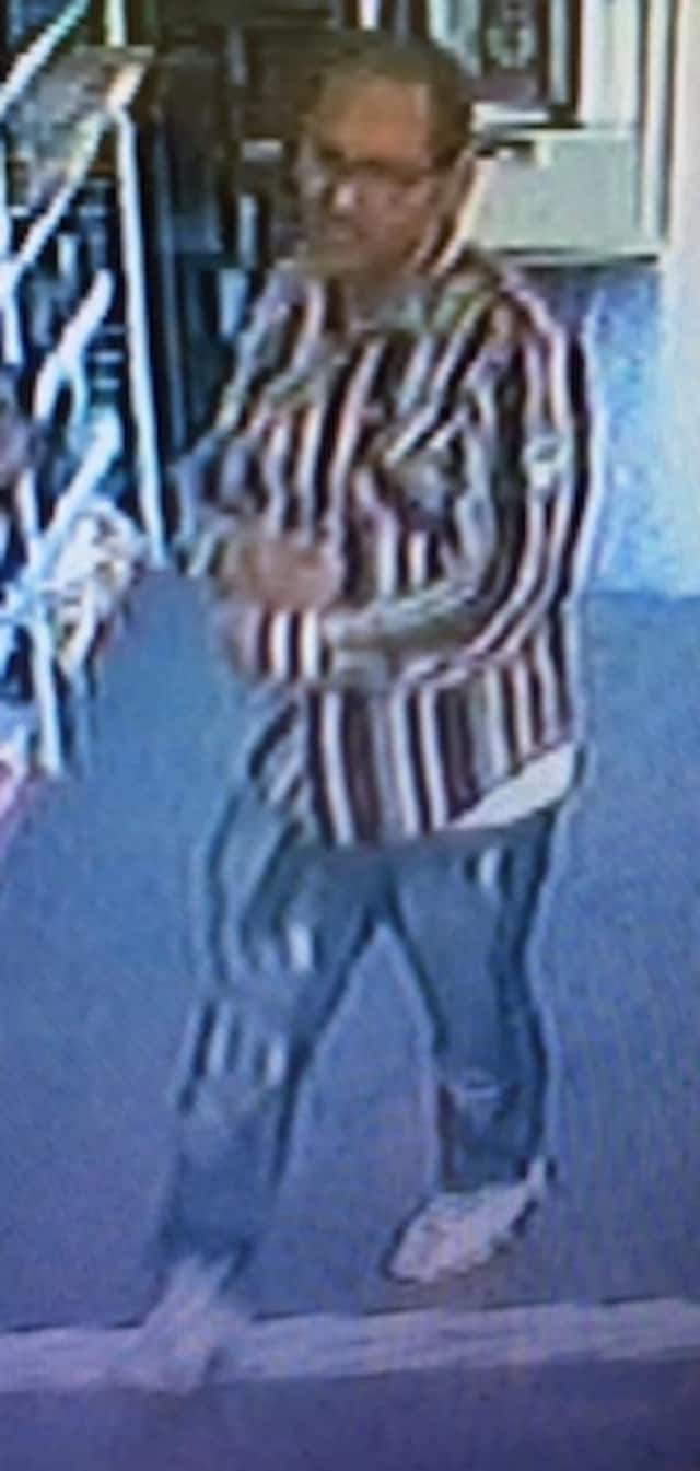 Fairfield police are looking for this man in connection with a May 25 shoplifting at Bed, Bath & Beyond.