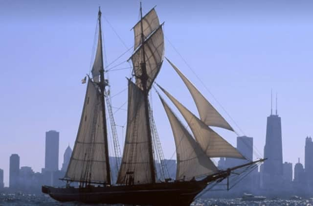 A replica of the slave ship Amistad will be off Sheffield Island in Norwalk through August 13.