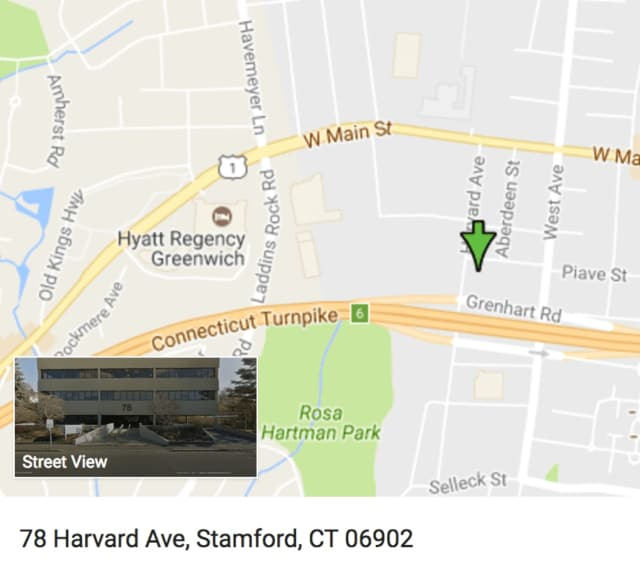 The armed robbery occurred in a parking garage below an office building at 78 Harvard Ave. on the West Side of Stamford.