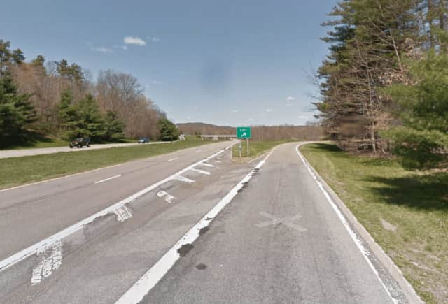 An 88-year-old woman was injured Friday when she lost control of her car on the Taconic State Parkway.