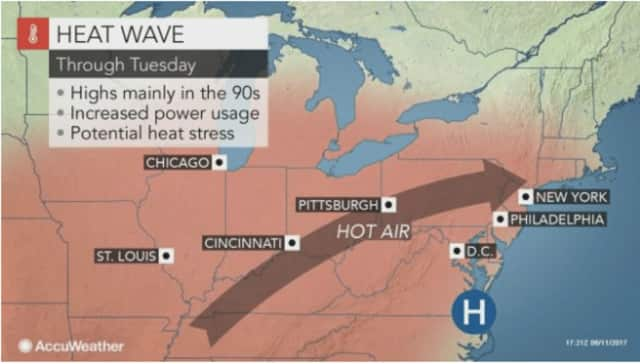 Extreme heat will grip the area through Tuesday.