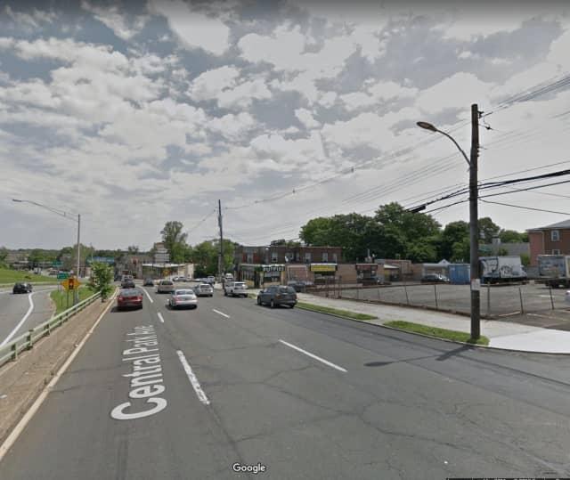 Central Park Avenue in Yonkers near Vredenburgh Avenue.