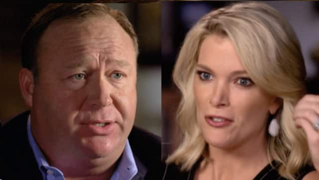 "The Megyn Kelly interview of Alex Jones aired Sunday night on NBC on the ""Sunday Night with Megyn Kelly"" show."